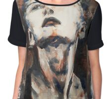 Leave While I`m Not Looking Chiffon Top