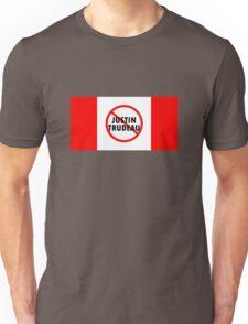 Canada Flag No Justin Trudeau Carbon Tax Protest Unisex T-Shirt
