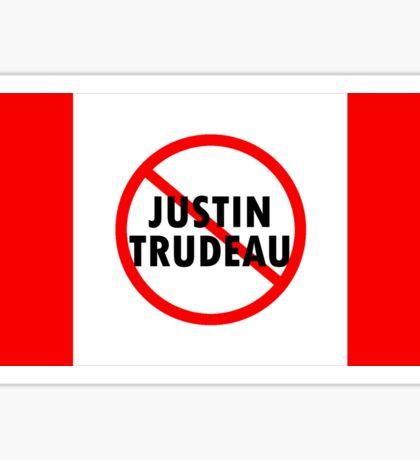Canada Flag No Justin Trudeau Carbon Tax Protest Sticker