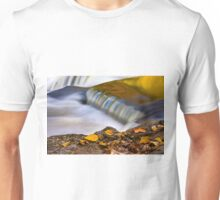 Autumn Leaves and Liquid Gold Waterfall Unisex T-Shirt
