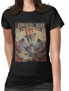 Grateful Dead - American Skeleton 50yr Womens Fitted T-Shirt