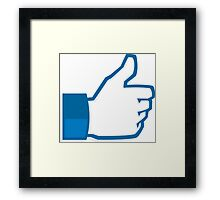 Facebook Like HD Framed Print