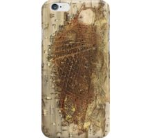 Vintage Pictorial Map of San Francisco (1878)  iPhone Case/Skin