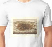 Vintage Pictorial Map of San Francisco (1878)  Unisex T-Shirt