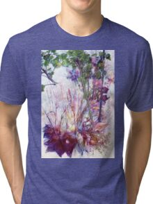 A Pot of Forget-me-not, from me to you Tri-blend T-Shirt