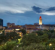 Texas Images - the University of Texas Tower from DRK on a Stormy Night by RobGreebonPhoto
