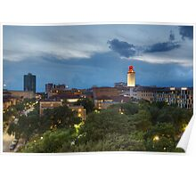 Texas Images - the University of Texas Tower from DRK on a Stormy Night Poster