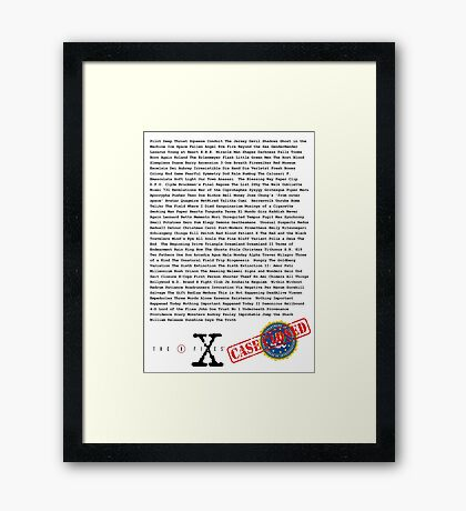 X Files - All Episodes Framed Print
