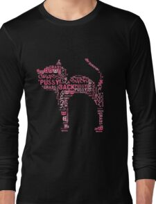 Pussy Grabs Back Pink Cat Long Sleeve T-Shirt