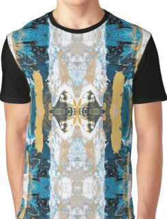 Teal Abstract Painting Graphic T-Shirt