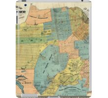 Vintage Map of San Francisco (1890) iPad Case/Skin