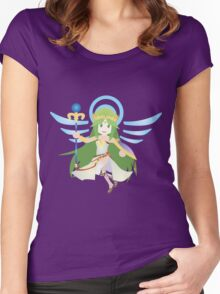 Chibi Palutena Vector Women's Fitted Scoop T-Shirt