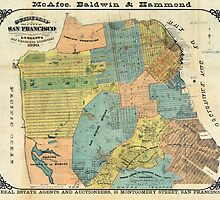 Vintage Map of San Francisco (1890) by BravuraMedia