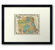 Vintage Map of San Francisco (1890) Framed Print