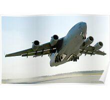 C-17 Globemaster on Takeoff Poster