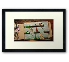 Video Game Theme Department Goal chart Framed Print