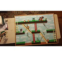 Video Game Theme Department Goal chart Photographic Print