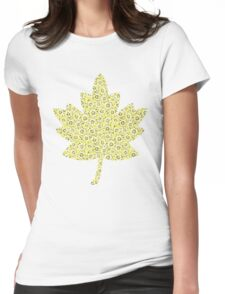 Flowers and Pebbles Womens Fitted T-Shirt