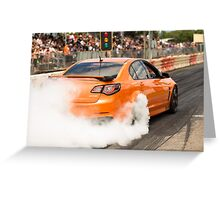 HSV GTS Powerskid Greeting Card