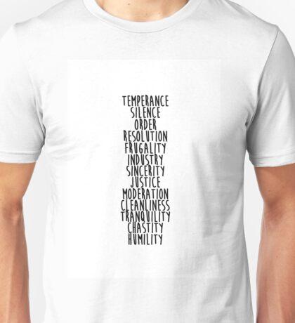 13 Virtues Unisex T-Shirt