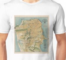 Vintage Map of San Francisco (1915)  Unisex T-Shirt