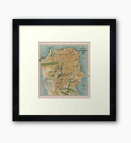 Vintage Map of San Francisco (1915)  Framed Print