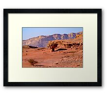 Timna natural and historic park, Israel Framed Print