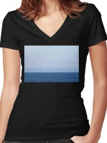 Two Oil Rigs Women's Fitted V-Neck T-Shirt