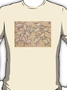 'Cranes' by Katsushika Hokusai (Reproduction) T-Shirt