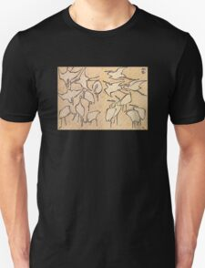 'Cranes' by Katsushika Hokusai (Reproduction) Unisex T-Shirt
