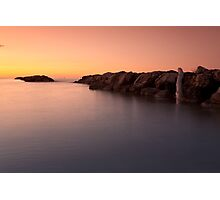 Sunset at the sea in Cesano of Senigallia Photographic Print
