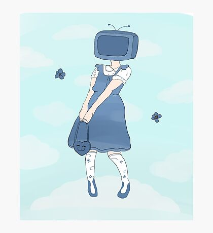 TV Head Lolita Girl Photographic Print