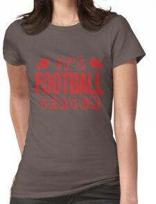 It's football season Womens Fitted T-Shirt