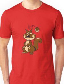 Eichhörmchen witzig nuss  Unisex T-Shirt