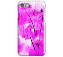 sumi flowers in pink iPhone Case/Skin
