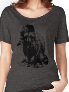 RACOON WITH RACOON HAT LAST MAN ON EARTH PHIL MILLER Women's Relaxed Fit T-Shirt