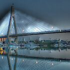 Anzac Bridge by Moonlight. by sunnypicsoz
