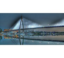 Anzac Bridge by Moonlight. Photographic Print