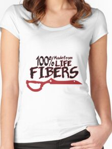 100% Life Fiber Women's Fitted Scoop T-Shirt