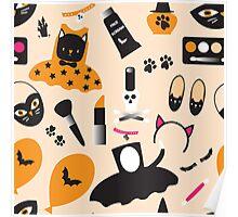 Halloween Black Cat Party Fancy Dress  Poster
