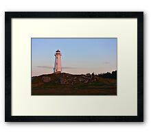 Sunrise at the Lighthouse Framed Print