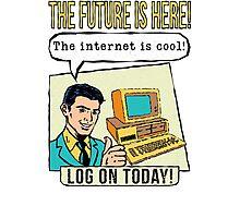 Retro Internet Comic Book Ad T Shirt Photographic Print