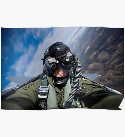 Selfie in an F-15E Poster