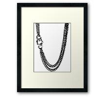 2 Chains Framed Print