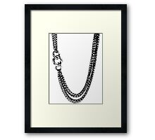 2 Chains Framed Print