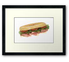 Deli Sandwich Framed Print