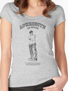 APHRODITE:  It's all fun and games till someone gets hurt! Women's Fitted Scoop T-Shirt