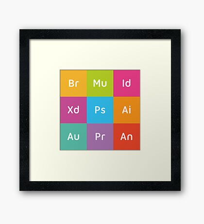 Adobe CC Squares Framed Print