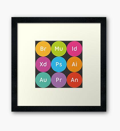 Adobe CC Circles Framed Print