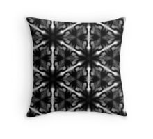 contrast flakes Throw Pillow
